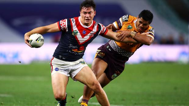 Joseph Manu of the Roosters will start in the centres for the big clash with Cronulla.